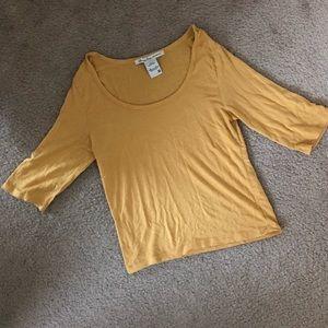 American Rag Yellow Crop Top